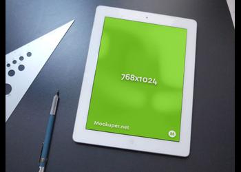 iPad on desk | Mockuper.net