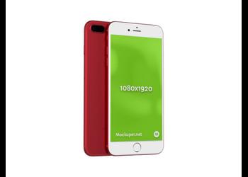 iPhone 7 plus red   Mockuper.net