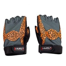 Gloves for the gym Oragne / Gray W HMS RST03 r. L.