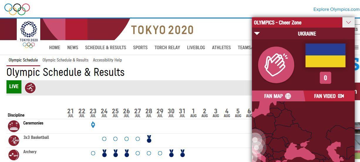 """Сайт Олімпійських ігор в Токіо """"відрізав"""" Крим від України"""