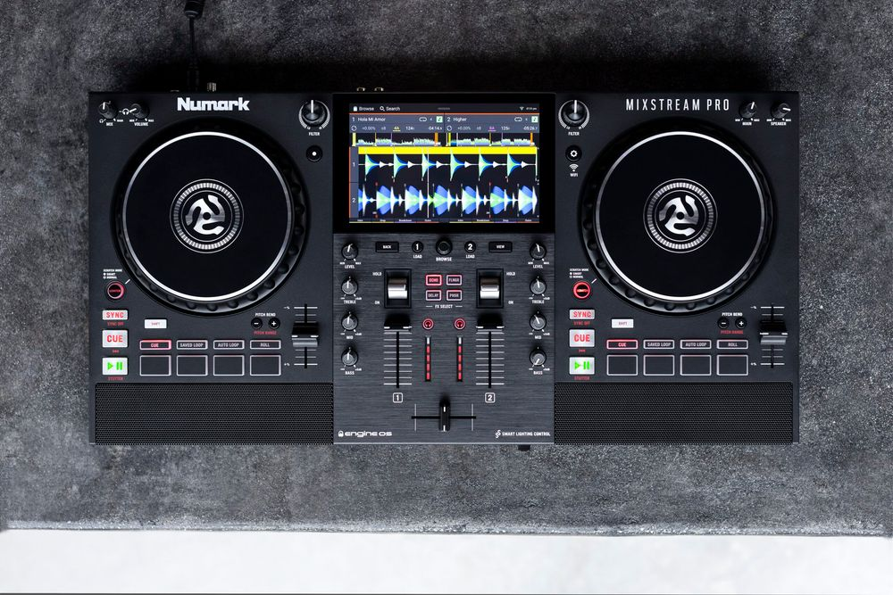 Numark's new Mixstream Pro: a standalone controller with built-in WiFi, speakers, LINK access