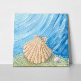 Πίνακας σε καμβά SHELL AND PEARL