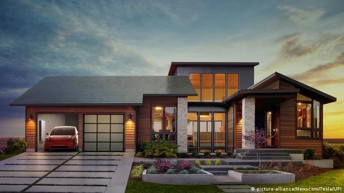 Сонячний дах від Tesla та SolarCity(picture-alliance/Newscom/Tesla/UPI)