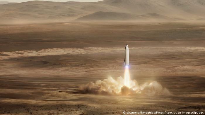 З 2024 року SpaceX планує перевозити людей на Марс(picture-alliance/dpa/Press Association Images/Spacex)