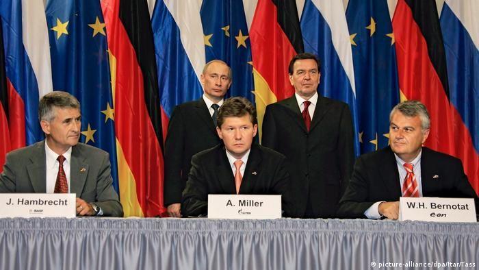 Підписання офіційної угоди про Північний потік 8 вересня 2005 року в Берліні