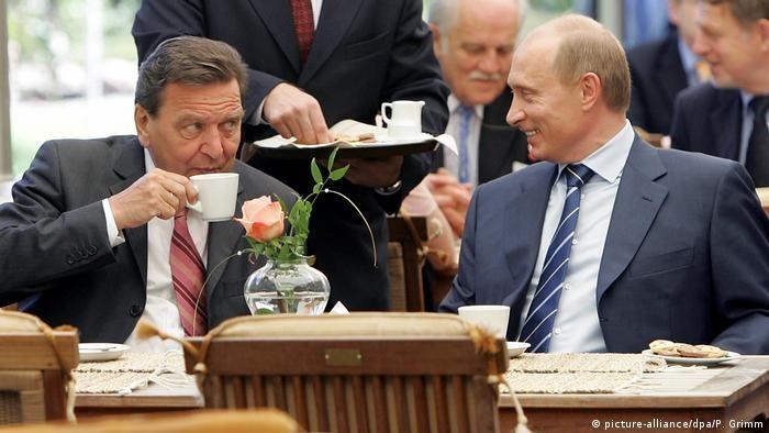 Шредер і Путін на святкуванні 750-річчя Калінінграда 3 липня 2005 року