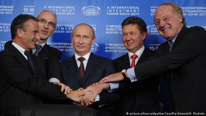 Володимир Путін під час підписання угоди про Південний потік 16 вересня 2011 року
