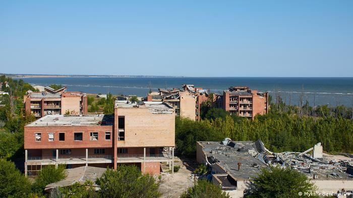 Широкине на Донбасі на березі Азовського моря