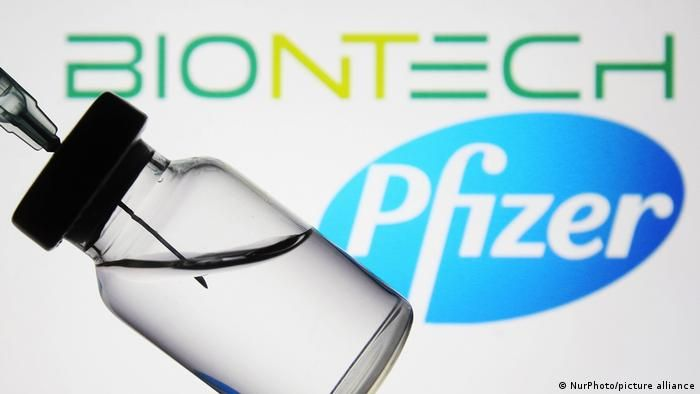 Ампула з вакциною BioNTech/Pfizer
