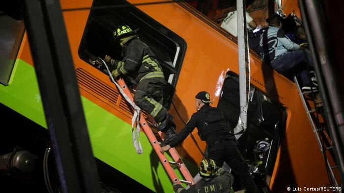 Mexiko U-Bahn Unglück in Mexiko-Stadt