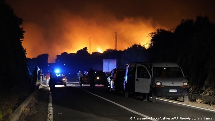 Масова евакуація на Сардинії