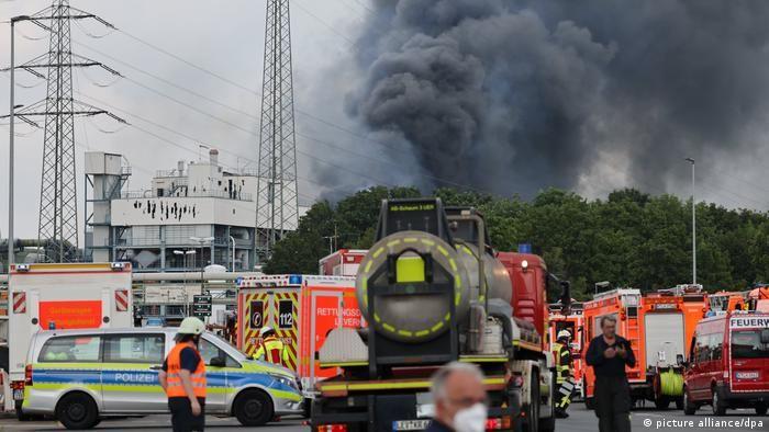 Пожежники та поліція на місці вибуху