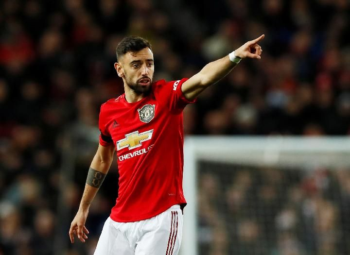 Manchester United player, Bruno Fernandes. Reuters