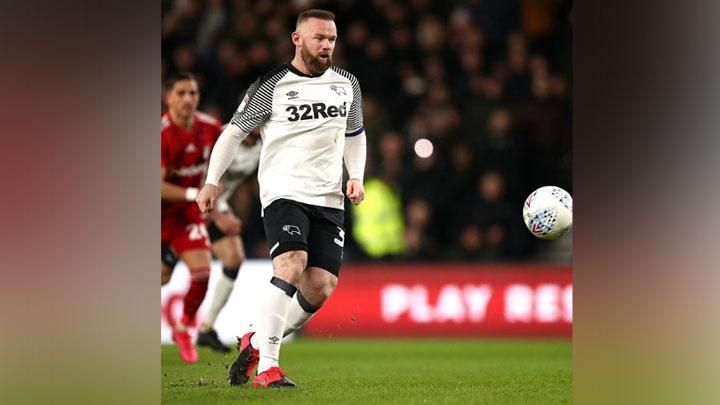 Derby County striker Wayne Rooney. Instagram.com