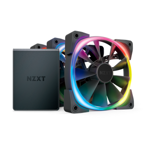 NZXT AER RGB 2 120MM TRIPLE STARTER KIT (3 FANS PACK WITH CONTROLLER) *พัดลม