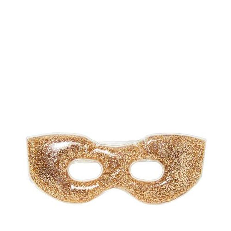 Gold glitter soothing gel eye mask