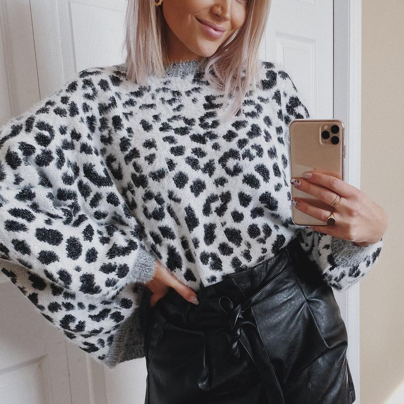 Restock! / the one where she wore a fuzzy leopard sweater