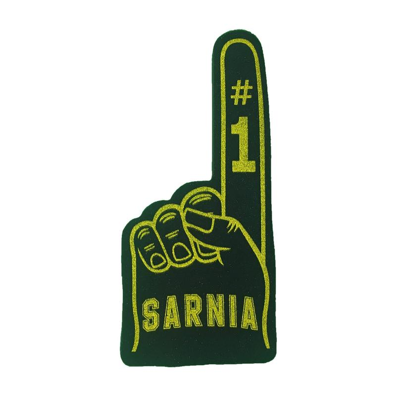 Sting foam finger- double sided black