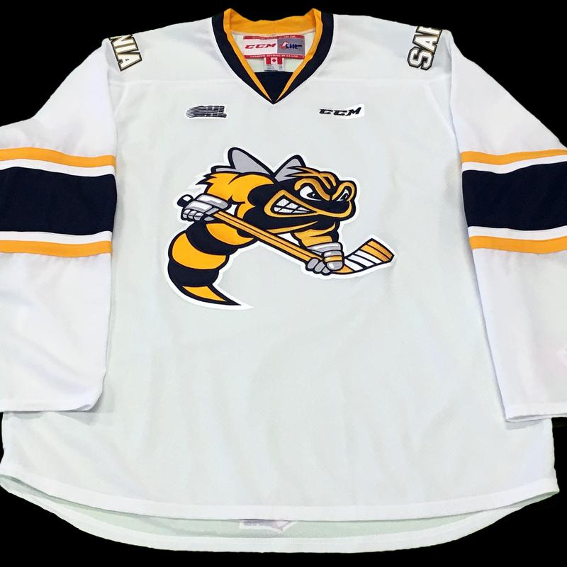 Adult ccm replica white jersey