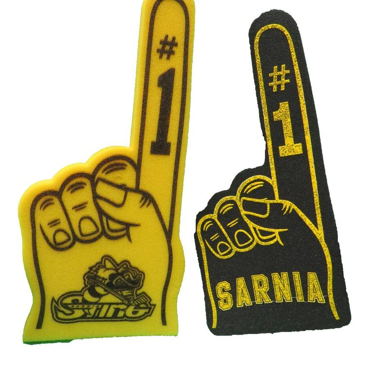 Sarnia sting foam fingers