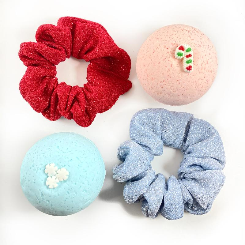 Holiday Scrunchie Bath Bomb