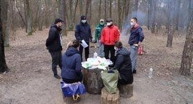 лес,карантин,пикник