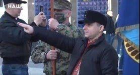 """Учасник маршу на честь дивізії СС """"Галичина"""" Кошовенко вибачився за жест, схожий на зігу"""