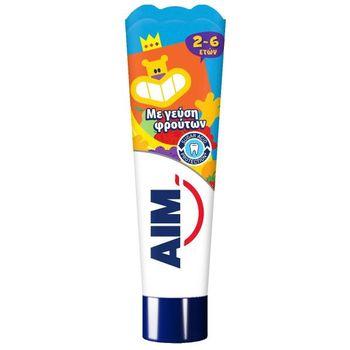 Aim 2-6 Ετών Οδοντόκρεμα Με Γεύση Φρούτων 50ml