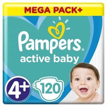 Πάνες Pampers Active Baby Mega Pack Νο4+ (10-15kg) 120τεμ