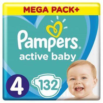 Πάνες Pampers Active Baby Mega Pack Νο4 (9-14kg) 132τεμ