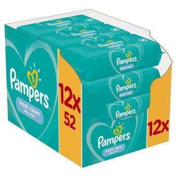 Μωρομάντηλα Pampers Fresh Monthly Βοx 624τεμ (12×52τεμ)