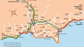 Parcours cyclable du littoral - V65 : Sainte-Maxime > Roquebrune