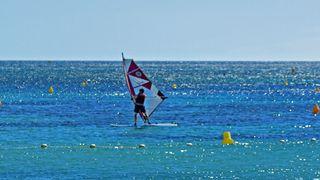 Spot de planche à voile de la plage du Gros Pin