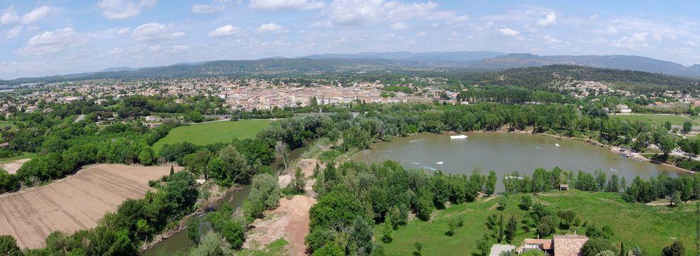 Le vallon du Rabinon et le village