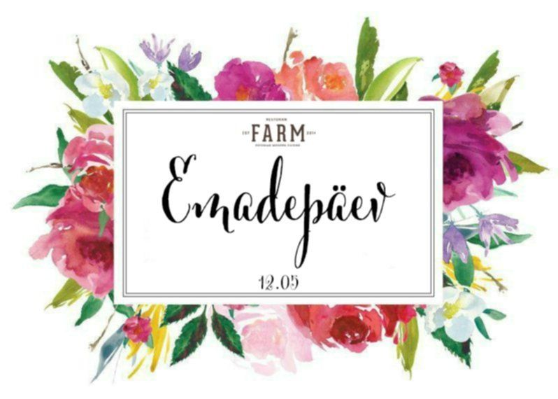Special Mother's day Weekend 3-course dinner menu in resturant farm 28€