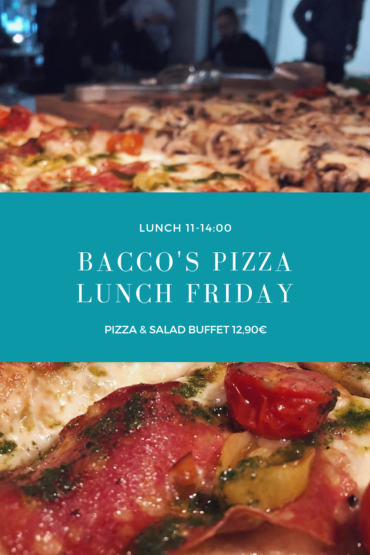 Bacco's friday pizza lunch
