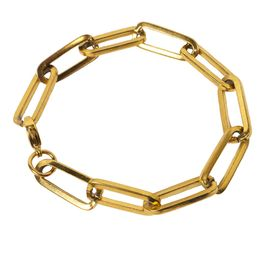 AD Γυναικείο βραχιόλι αλυσίδα χρυσή συνδετήρας ατσάλι παχύ