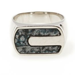 Aetoma Ασημένια Ανδρικό Δαχτυλίδι με Λάπις Λάζουλι