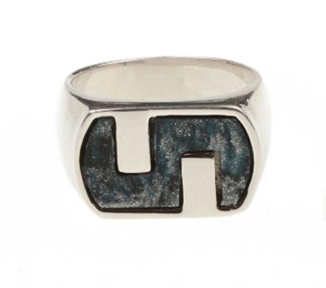 Aetoma Ανδρικό δαχτυλίδι μαίανδρος Λάπις Λάζουλι