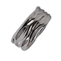 AD Ατσάλινο δαχτυλίδι βεράκι ανάγλυφο