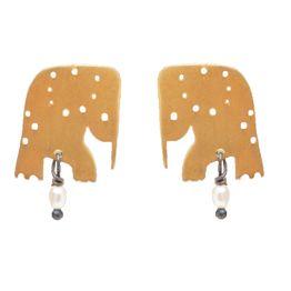 Antria Ασημένια καρφωτά σκουλαρίκια ελέφαντες