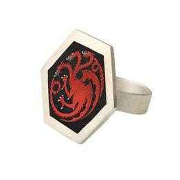 Antria Ασημένιο δαχτυλίδι δράκος Targaryen - Game of Thrones