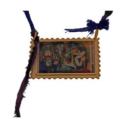Antria Χειροποίητο κολιέ γραμματόσημο πίνακας του Πικάσο