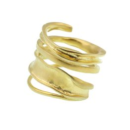 Efstathia Επίχρυσο ασημένιο δαχτυλίδι σπείρα