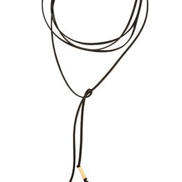 Jt Τσόκερ κολιέ πολυμορφικό από επιχρυσωμένο ασήμι με σουέτ