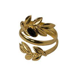 Jt Δαχτυλίδι φύλλα ελιάς χρυσό ασήμι
