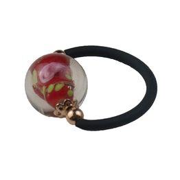 Jt Ασημένιο μονόμετρο δαχτυλίδι κόκκινο μουράνο καουτσούκ