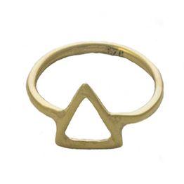 Jt Μίνιμαλ επίχρυσο ασημένιο δαχτυλίδι τρίγωνο