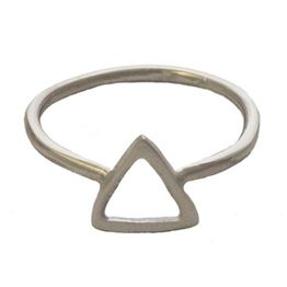 Jt Μίνιμαλ ασημένιο δαχτυλίδι τρίγωνο