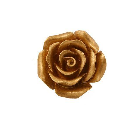 Jt Ασημένιο δαχτυλίδι χρυσαφί τριαντάφυλλο με μάτι τίγρη
